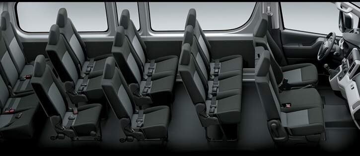 hiace 2020 hàng ghế
